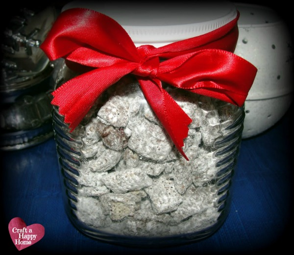 Looking for a quick recipe to make to take to holiday parties this year? This Candy Cane Muddy Buddies recipe only takes 15 minutes to make.  Chock full of peppermint and chocolate, this snack is sure to be a hit!