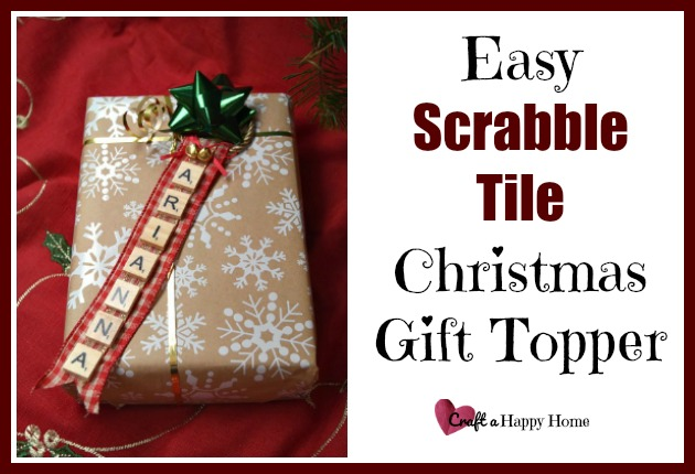 This personalized Scrabble tile gift topper is super cute and takes just 5 minutes to make. It also makes a fun Christmas ornament.