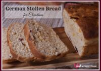 Chock full of fruit and nuts, this German Stollen bread recipe smells amazing as it cooks and tastes even better! It is a great recipe to try for the holidays. Learn how to make it here.