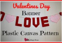 Let your family know how much you love them with this cute Valentines Day banner plastic canvas pattern. Get the pattern here and start stitching today!