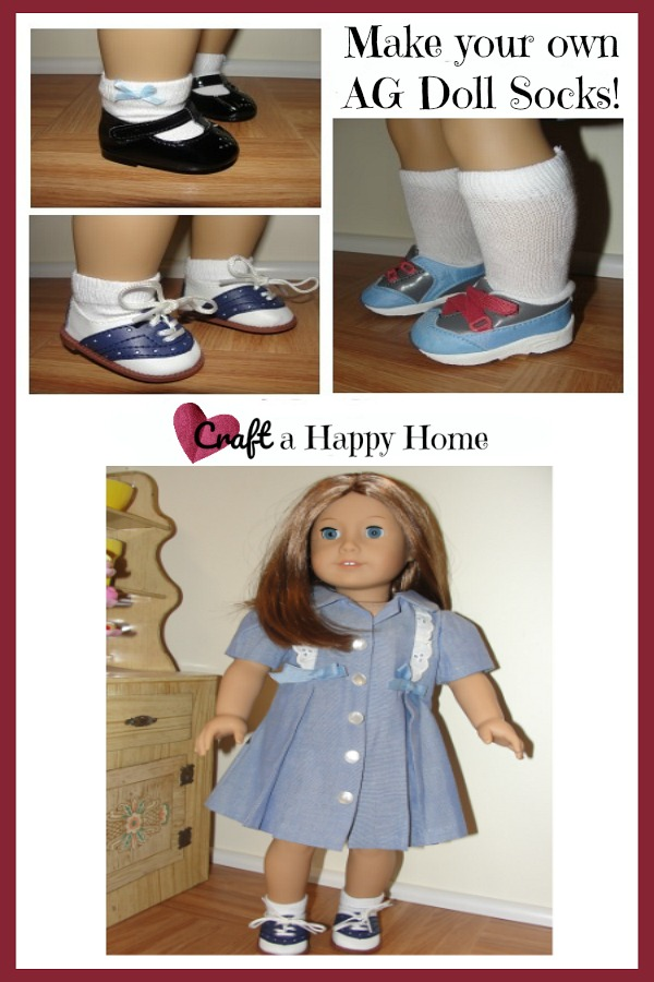 Never run out of American Girl doll socks again! These DIY doll socks can be made in just a few minutes. Learn how here!