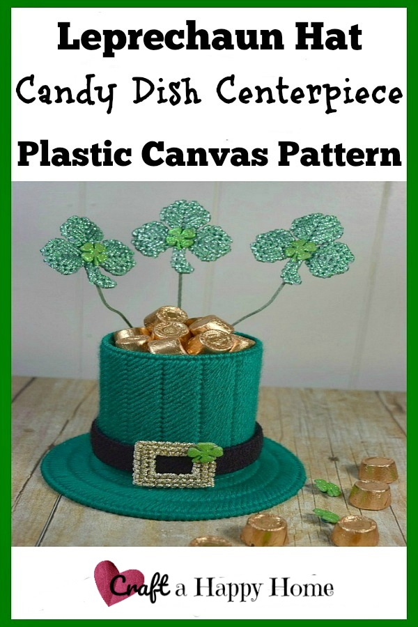 This cute Leprechaun Hat Candy Holder would make a great table centerpiece for St Patricks Day! Get the plastic canvas pattern here.