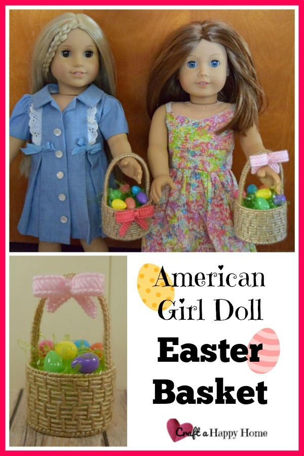 Make an AG doll Easter basket for that special American Girl doll fan in your life. This diy American Girl doll Easter basket is quick and easy to make. Get the plastic canvas pattern here.